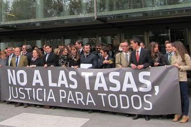 El rechazo a las tasas judiciales sigue vivo dos años después de su aprobación