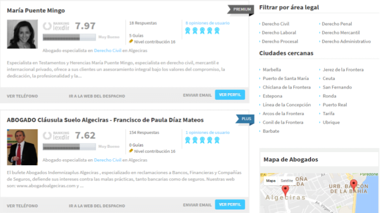 Los 5 mejores abogados en Algeciras