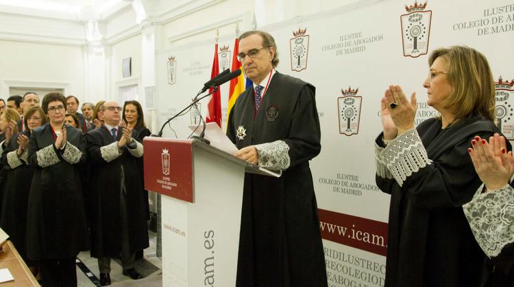 Toma de posesión de José María Alonso como nuevo decano del Colegio de Abogados de Madrid