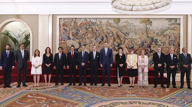 La Junta de Gobierno del ICAM transmite a SM el Rey el compromiso de la Abogacía madrileña con los valores democráticos y el Estado de derecho