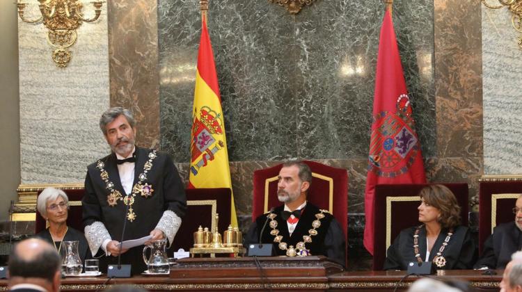 """El presidente del TS y del CGPJ: """"Cuando la Constitución resulta golpeada no puede renunciar a defenderse"""""""