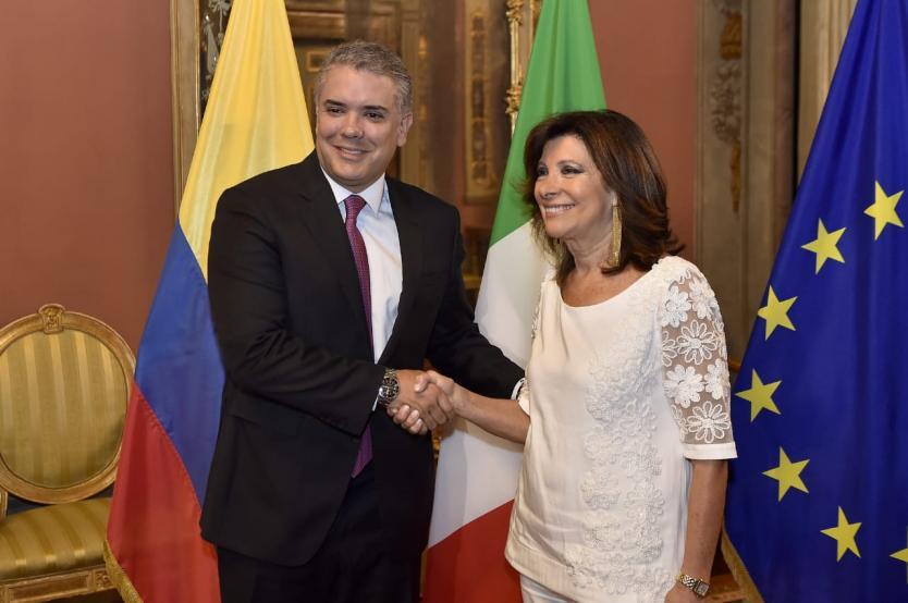 Colombia obtiene el respaldo del gobierno y parlamento italianos en la lucha contra los grupos armados y en la política internacional asumida hacia el régimen venezolano