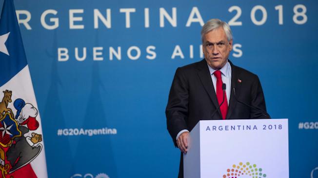 En Cumbre del G20 Piñera llamó a poner fin a guerras comerciales