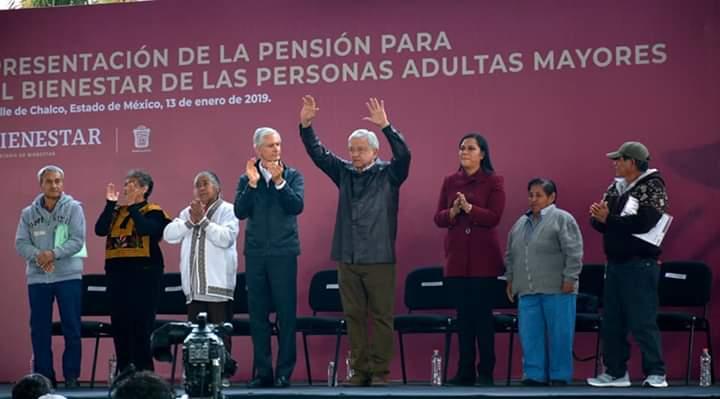 Presentación de la Pensión para el Bienestar de las Personas Adultas Mayores