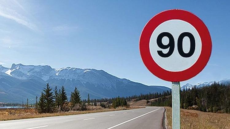 La DGT rebaja la velocidad en carreteras secundarias a 90 km/h